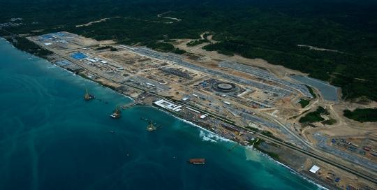 Donggi-Senoro LNG refinery, Kecamatan Batui, Kabupaten Banggai, Sulawesi Tengah, Indonesia